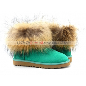 UGG Women With Fox Fur mini - Green