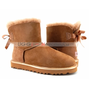 Ugg Women Bailey Bow Mini II Metallic - Drif Wood
