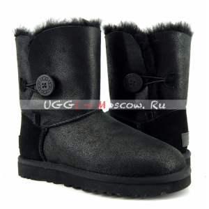 UGG Bailey Button Short Bomber NEW - Black