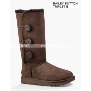 BAILEY BUTTON TRIPLET II CHOCOLATE
