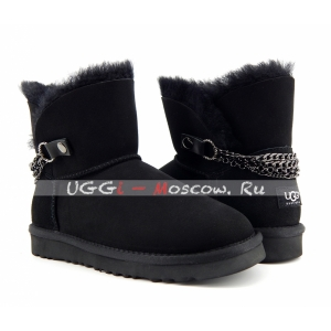 Ugg Women Chain NEW - Black